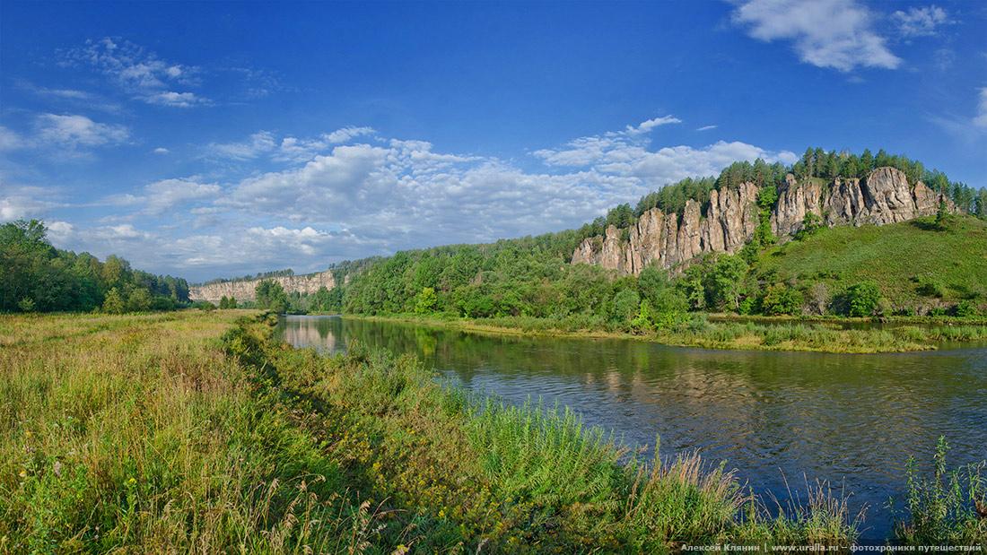 На реке Юрюзань. Лимоновский гребень.