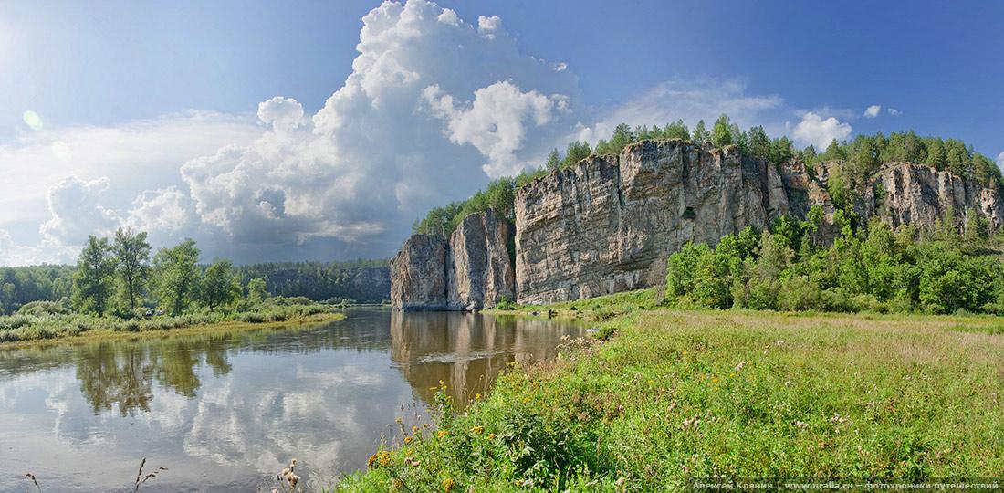 На реке Юрюзань. Навесной гребень.