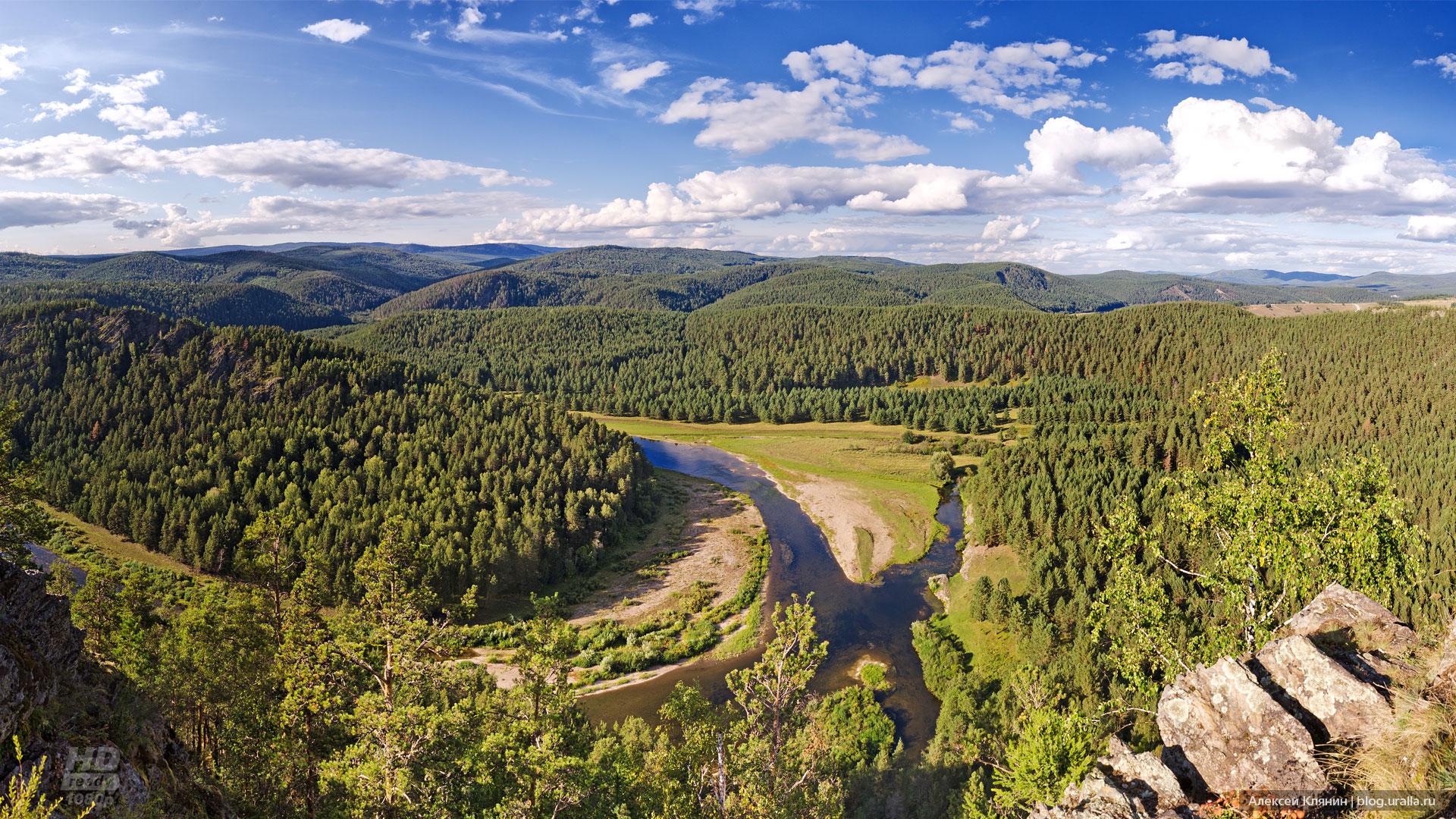 Река Белая рядом с д. Кага