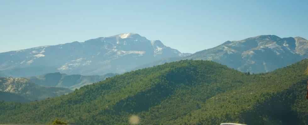 1 января. Перевал через горы Высокий Атлас, первый день в пустыне.