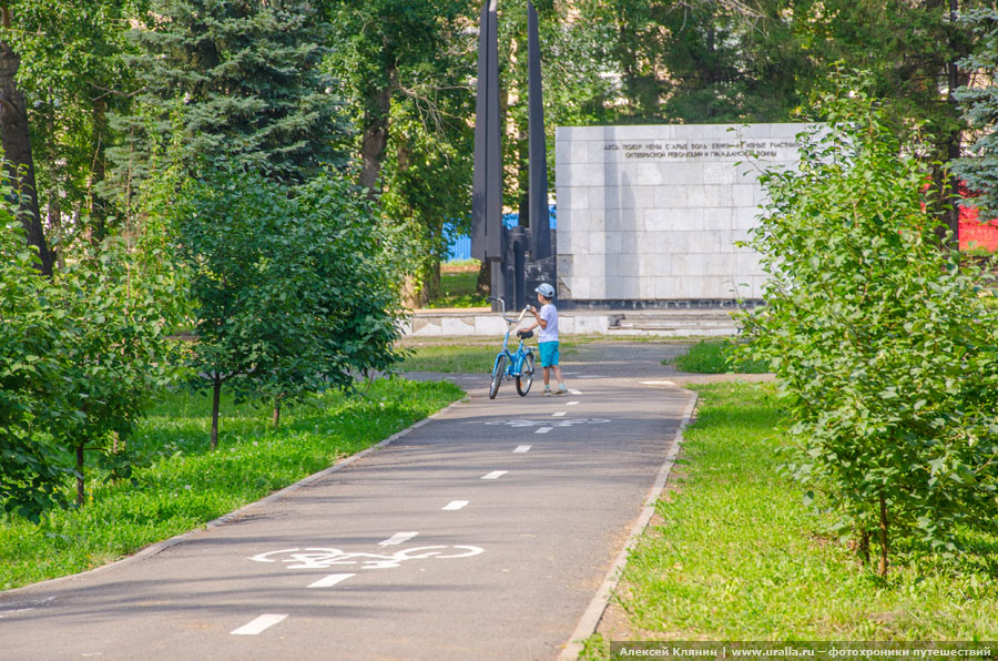 Велодорожка в сквере 50-летия Победы