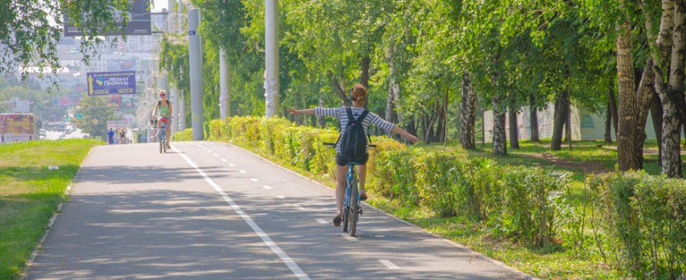Велодорожки в Уфе (лето 2014), редакция 2016