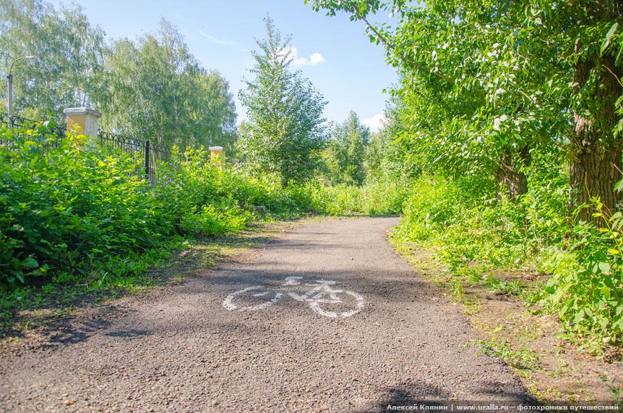 Велодорожка в Черниковке