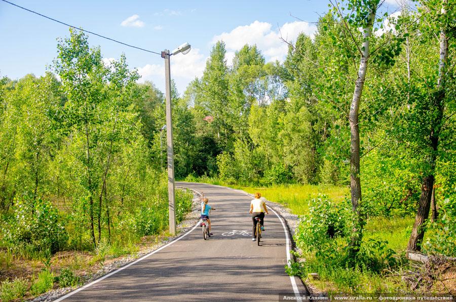 Велодорожка в Затоне
