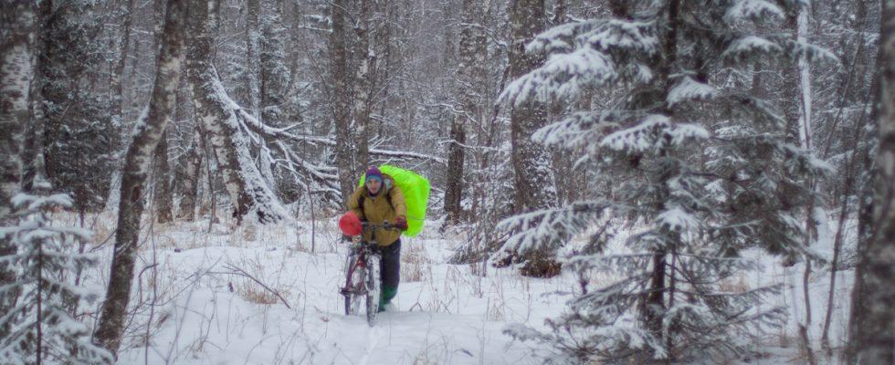 Зимний велосипедный поход на Зигальгу (0% грязи)
