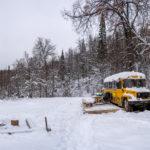 Автобус в лесу. Как встречать новый год